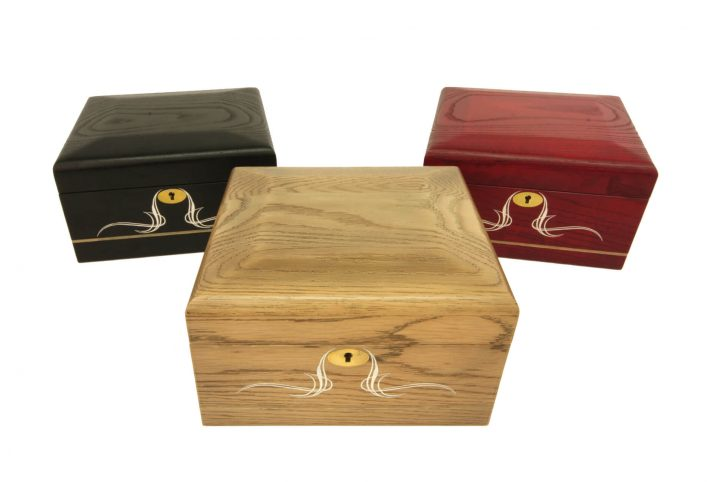 bespoke jewellry box lockable ash jewellry display case assorted colours