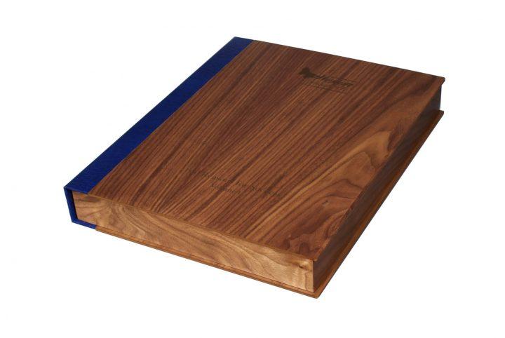 bespoke wood room folder for hotel room guest information