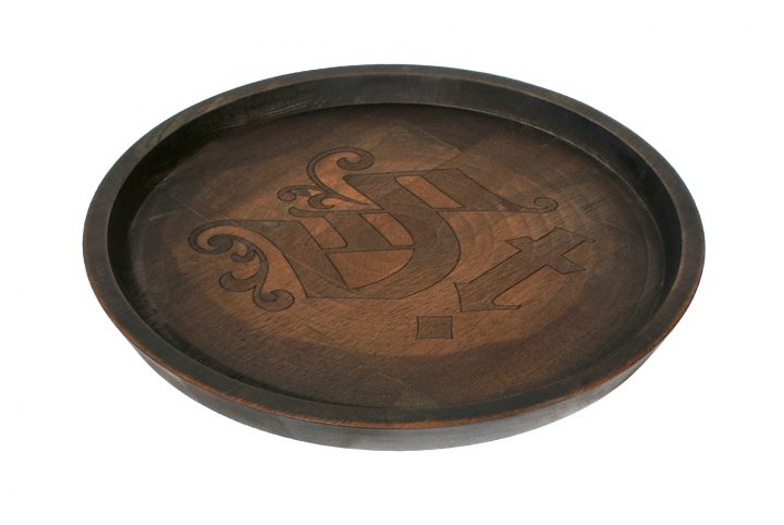 bespoke wood serving tray point of sale branded pos material
