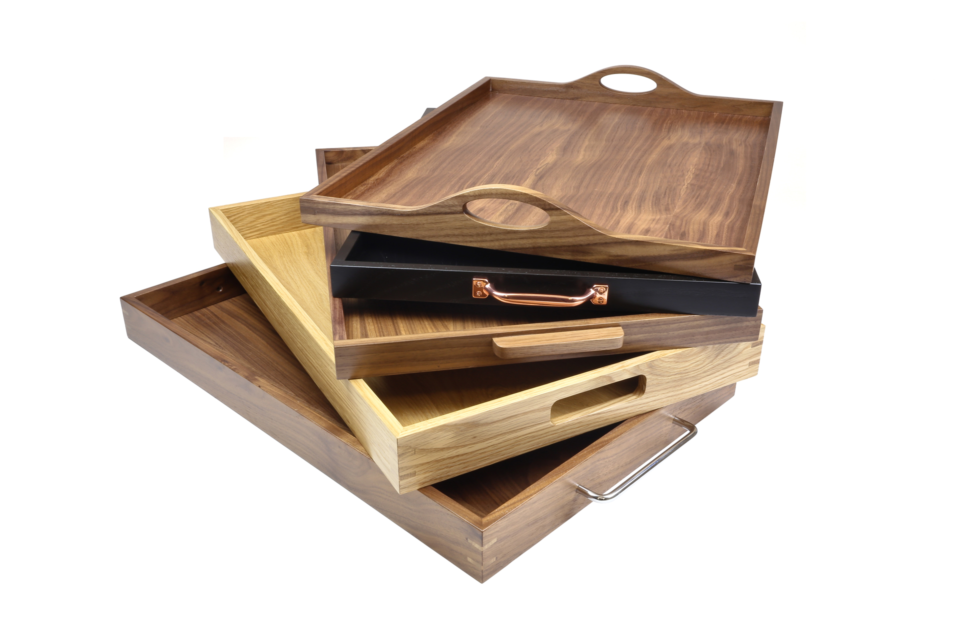 bespoke wooden hospitailty tray wood room service