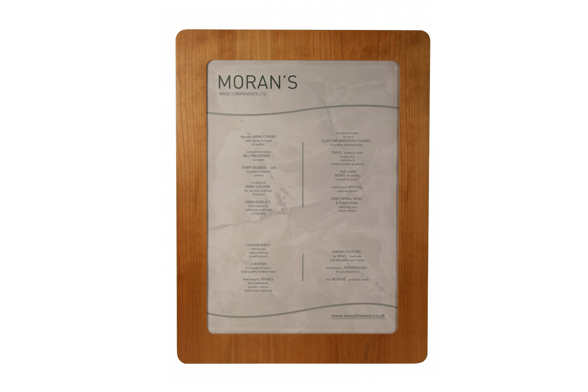 custom made poster frames for hotel reception wall signage hospitality and POS