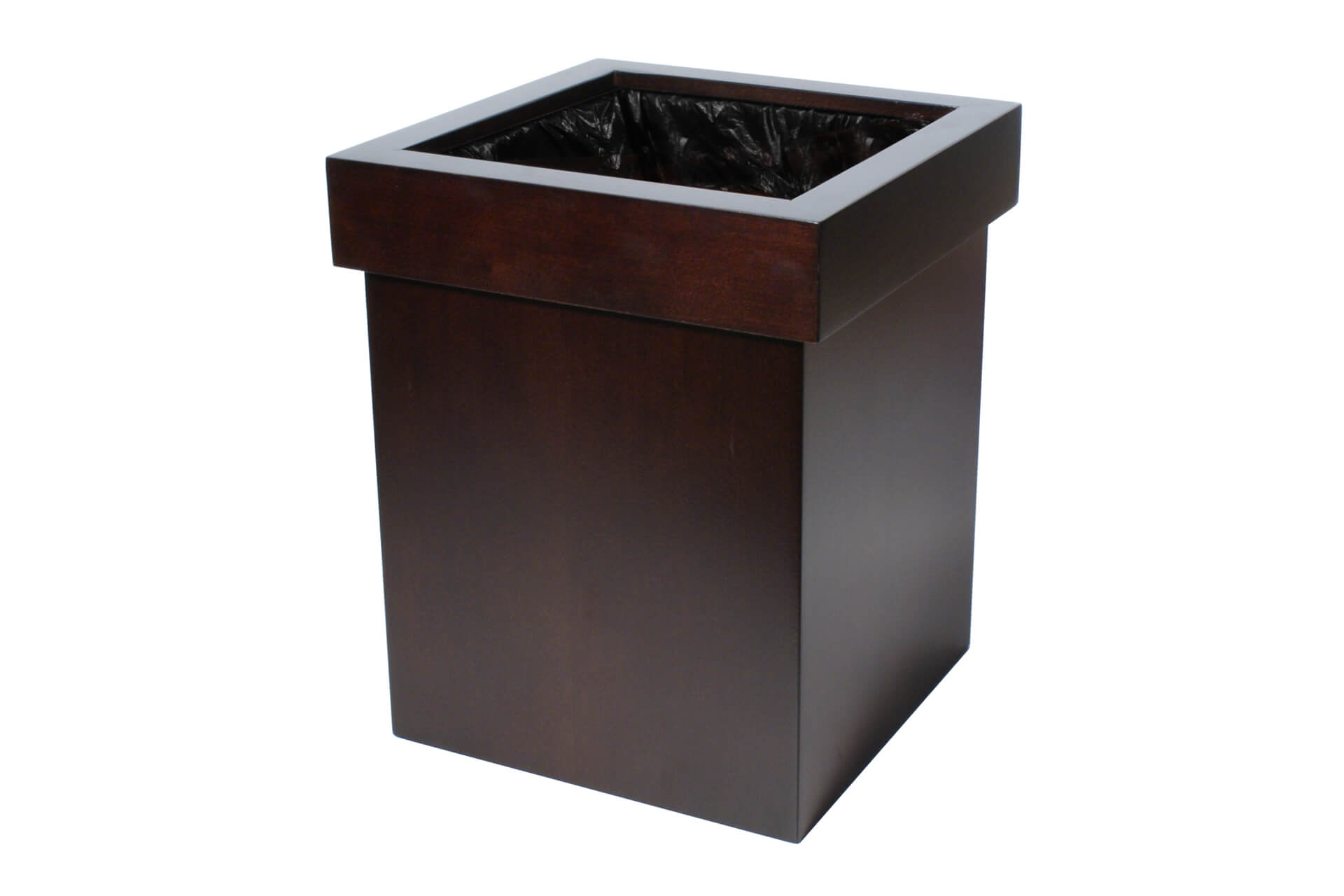 discrete wooden waste paper bin various finishes