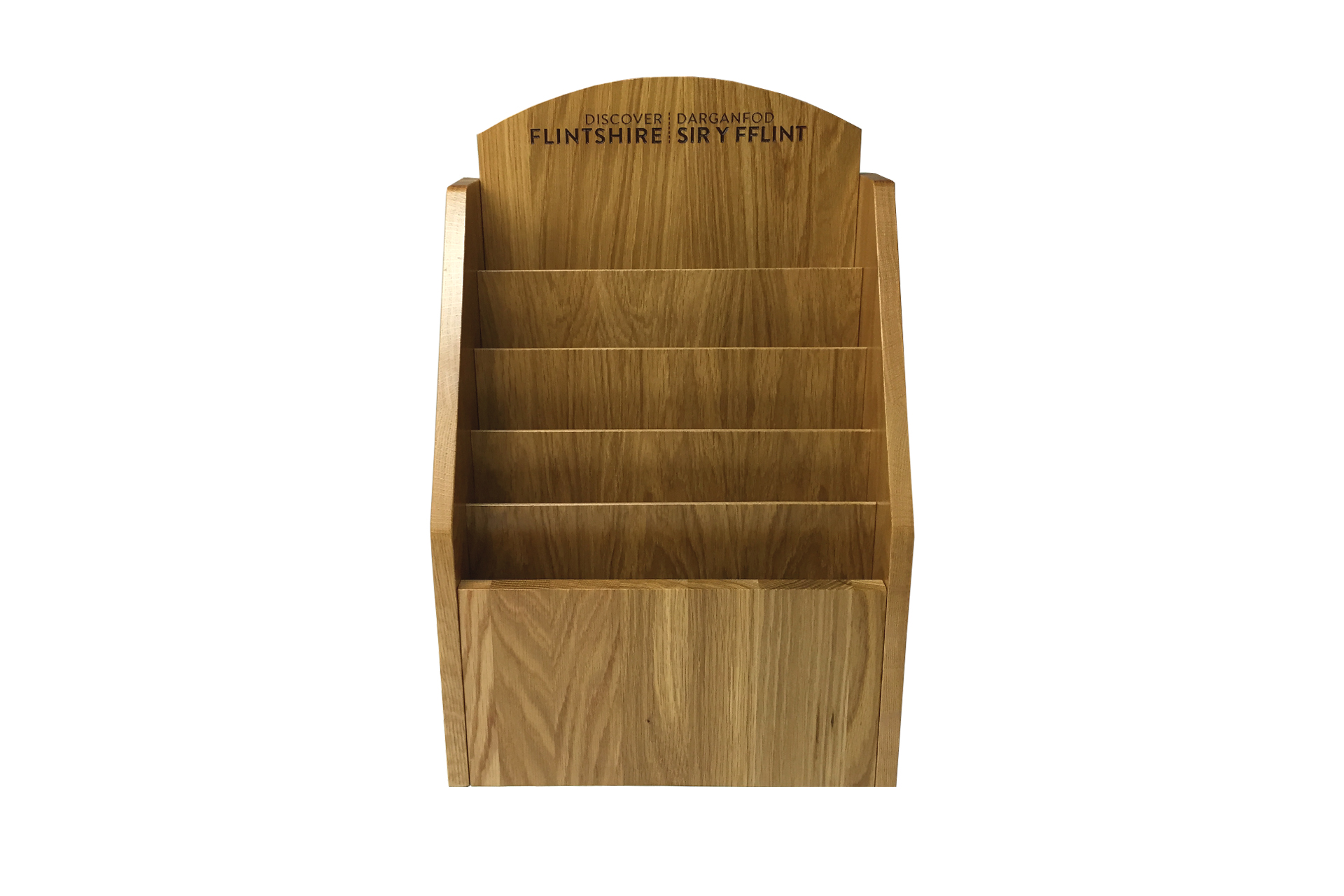 hand crafted wooden point of sale leaflet holder hotels and retail