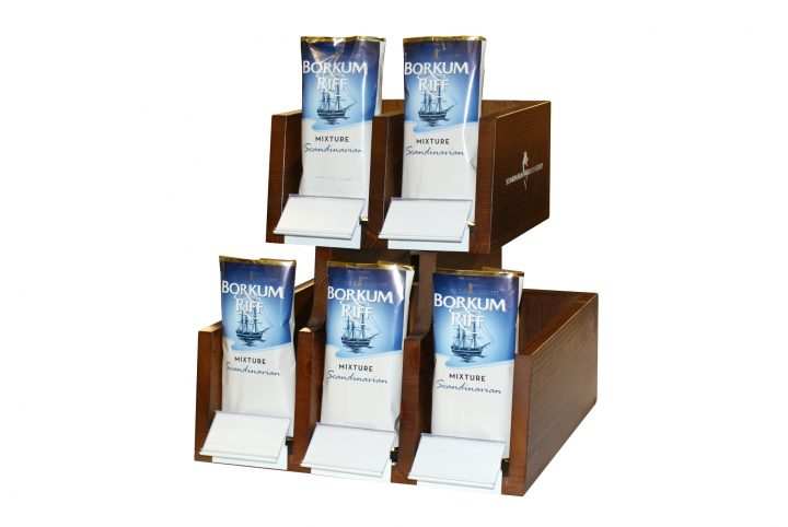 product display and dispenser bespoke wooden holder