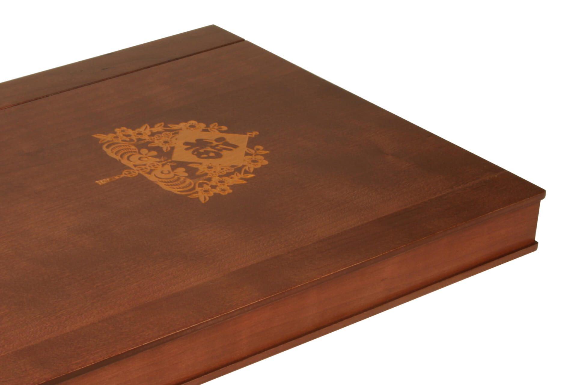 stylish wood room folder custom branded for exclusive hotels