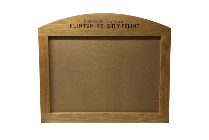 wooden poster frame for hotel reception and point of sale