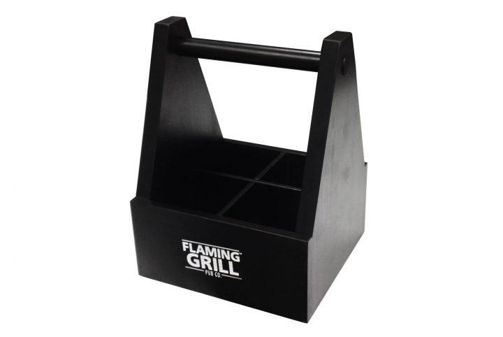 flaming grill wooden restaurant caddy SAM01-01